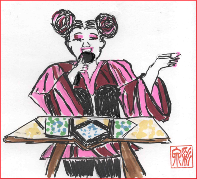 Netta at ESC 2018 (drawing by SchspIN)