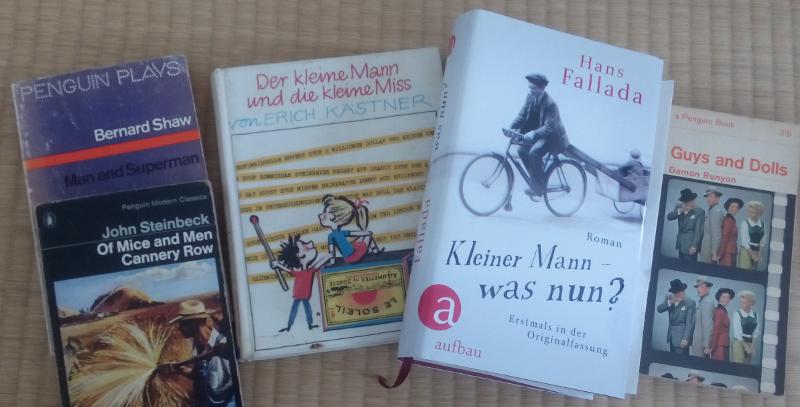 Buchklassiker von kleinen Männern und Mäusen