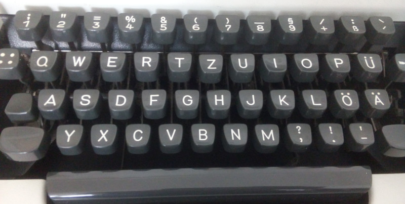 traditional typewriter keyboard