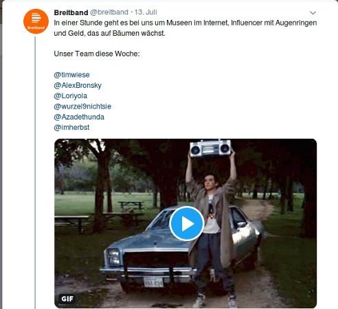 Programmvorschau Breitband – das Magazin für Medien und digitale Kultur im Deutschlandradio Kultur