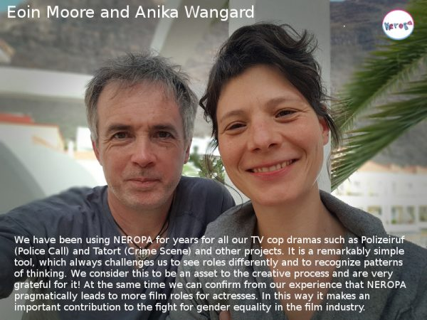 photo of Eoin Moore and Anika Wangaard