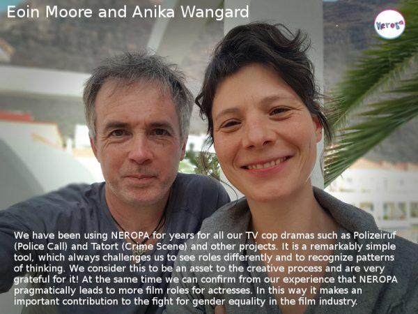 photo of Eoin Moore and Anika Wangaard