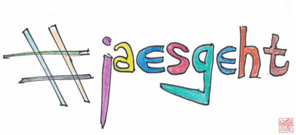 #jaesgeht bunte Buchstaben