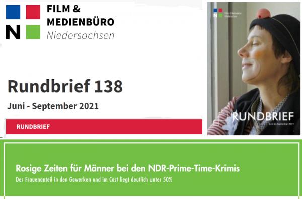 Titel Rundbrief des  Film und Medienbüros Niedersachsen